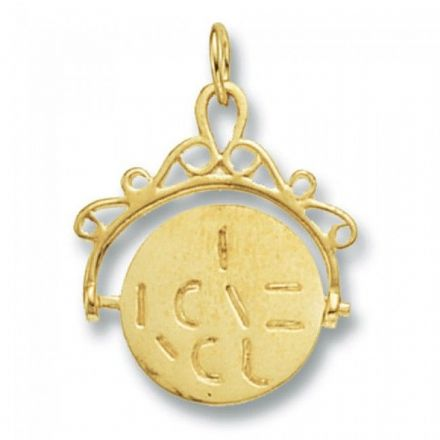 Yellow Gold Pendants -Spinner I Love You, PN461
